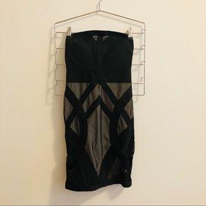 STRAPLESS BODYCON BANDAGE DRESS